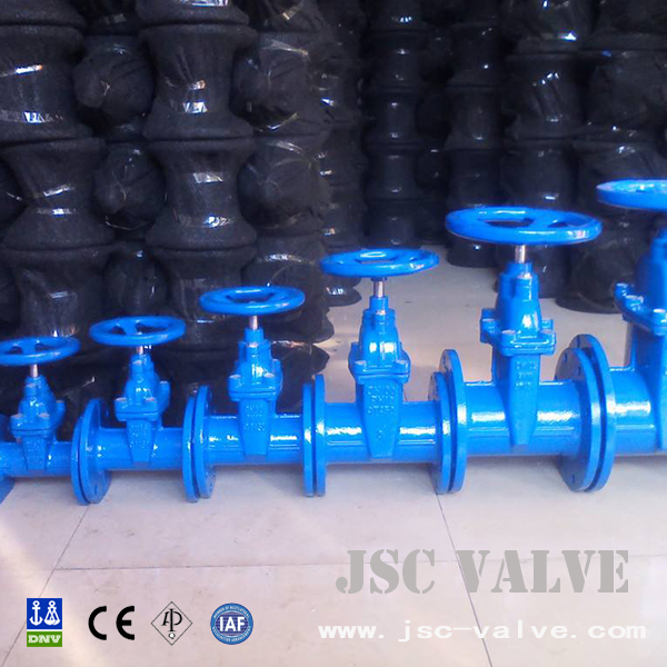 DIN resilient seat gate valve